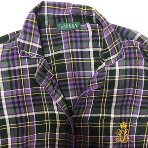Ralph Lauren Purple Long Sleeve Flannel - Size S